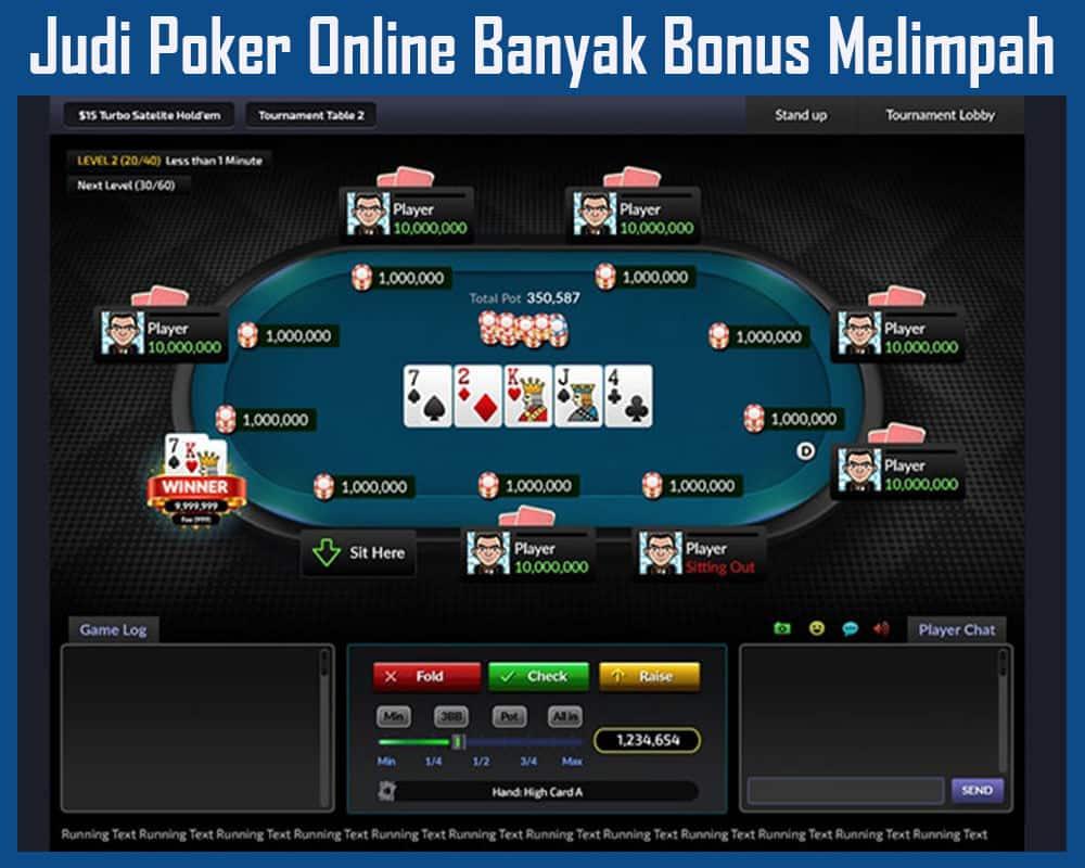 Judi Poker Online Banyak Bonus Melimpah