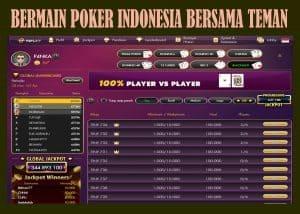 BERMAIN POKER INDONESIA BERSAMA TEMAN - Permainan poker adalah permainan kartu yang dapat dimainkan secara online ataupun dapat juga dimainkan secara langsung di meja perjudian di casino tempat perjudian. Permainan poker yang dimainkan di casino, para pemain harus membawa uang aslinya untuk dijadikan sebagai taruhan dan memperoleh keuntungan pada permainan yang dilangsungkan. Tetapi pada permainan poker ini setiap pemain harus membawa uang yang banyak juga setelah selesai bermain. Berbeda dengan permainan poker yang dimainkan secara online, setiap pemain yang melangsungkan permainan poker onlinenya dapat memainkan permainan poker onlinenya dimana pun diinginkan dan para pemain pun dapat memainkan permainan poker kapan pun para pemain ingin memperoleh kemenangan dalam permainan yang dilangsungkan. Akan tetapi pada permainan yang dilangsungkan secara langsung di casino memiliki perbedaan dan kenyaman tersendiri dibandingkan permainan poker lainnya. Pada permainan poker yang dimainkan secara langsung di casino tempat perjudian, setiap pemain dapat memperoleh keuntungan sebagai beriktu Pemain melangsungkan permainan pokernya dengan tenang dan para pemain dapat berinteraksi dengan para pemain lainnya yang melangsungkan permainan poker.Selain dari itu setiap pemain juga dapat menyaksikan permainan poker pemain lain terlebih dahulu sebelum melangsungkan permainannya di meja perjudian tersebut.Selain dari itu setiap pemain juga dapat mengganti pemain dengan pemain lain di permainan selanjutnya apabila para pemain sudah buntu dengan permainan yang dilangsungkan. Sedangkan untuk permainan poker yang dimainkan secara online, setiap pemain dapat memperoleh keuntungan yang berbeda juga yang hanya dapat diperoleh oleh para pemain dengan melangsungkan permainannya di poker online. Untuk keuntungan yang dimaksudkan adalah Keunggulan pertama yang dapat dinikmati oleh para pemain yang melangsungkan permainan poker secara online adalah para pemain dapat memainkan permainan poker diman
